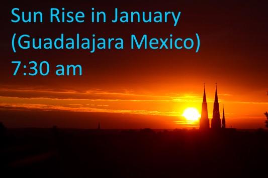 Sunrise hour in Guadalajara January