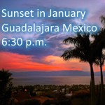 Sunset time in Guadalajara January